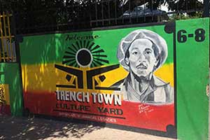 Wall at Culture Yard in Trenchtown, Kingston