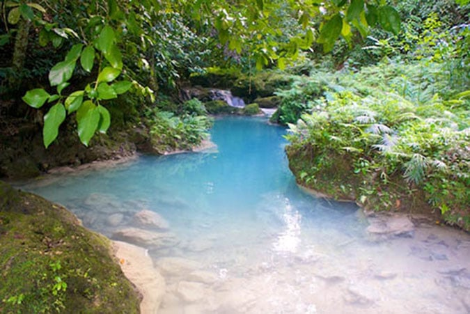 Stream running to the Blue Hole