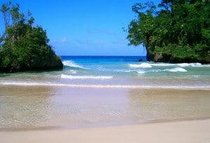 Frenchman's Cove in Portland, Jamaica