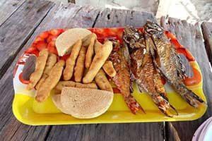 Hellshire Beach Fired Fish in Kingston
