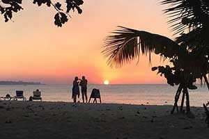 Seven Mile Beach Sunset in Negril Jamaica