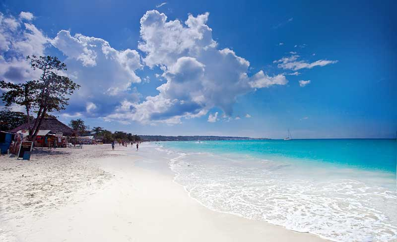 Seven Mile Beach in Negril