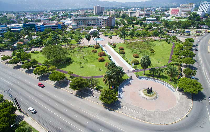 Aerial of Emancipation Park