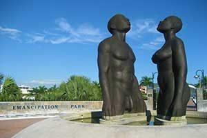 Sculpture at Emancipation Park