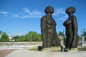 Emancipation Park in Kingston, Jamaica