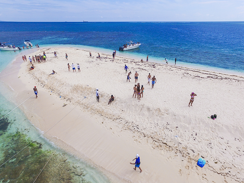 Which is pretty true, but that's what makes Maiden Cay such a great beach that's worth your time. It exceeds any expectations of a beach in Kingston.